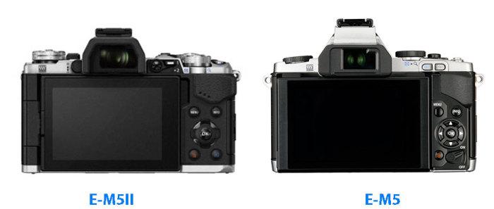 E-M5II-vs-E-M5-rear-size-comparison