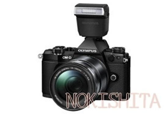 Olympus-E-M5II-camera-with-FL-LM3-flash-550x372