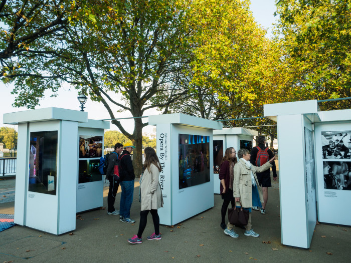 Opera By The RIver Exhibition, Riverside Walkway, South Bank, London. October 09, 2015. Photo: Edmond Terakopian