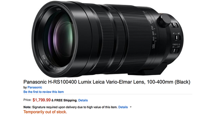 panasonic 100 400mm on preorder now at amazon us for 1 799 43 rumors. Black Bedroom Furniture Sets. Home Design Ideas