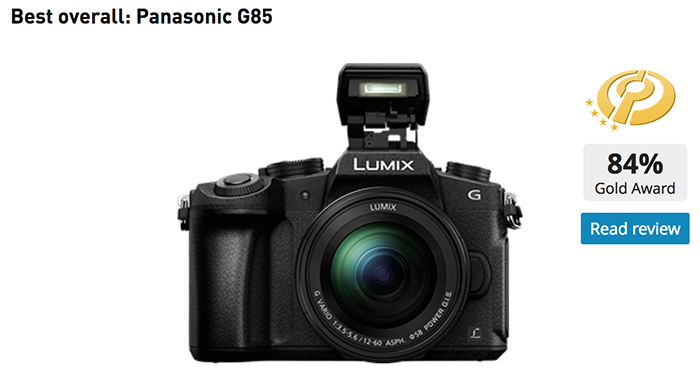 Panasonic G85 is the best $900-1200 Interchangeable Lens Cameras for