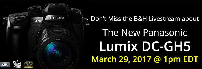 Panasonic GH5 Livestream presentation event on March 29 (and