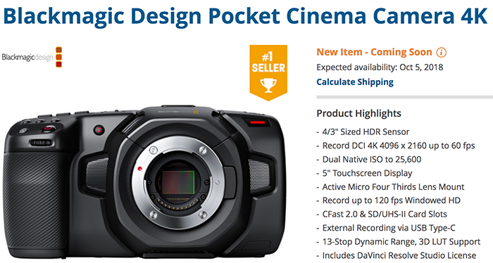 Oh Yes Blackmagic Did It Again Their Pocket Cinema Camera Shipment Start Got Delayed By 1 Month 43 Rumors