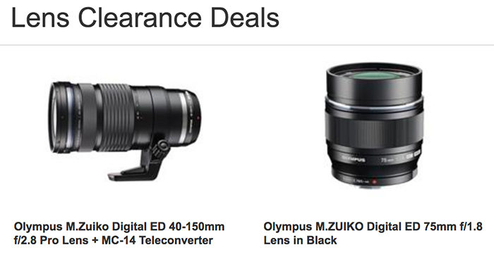 Jessops says the Olympus 40-150mm PRO and 75mm f/1.8 are on ...