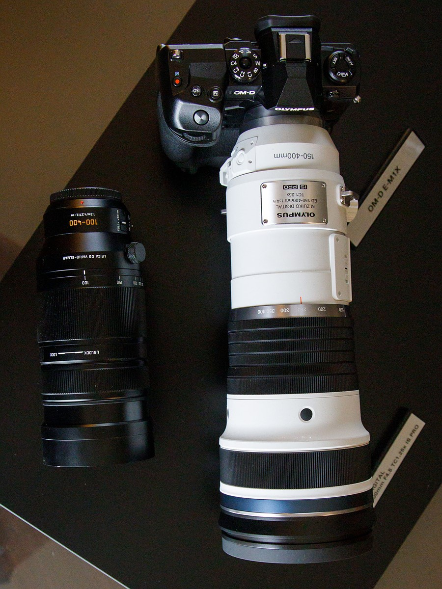 Leica 100-400mm vs the new Olympus 150-400mm size comparison