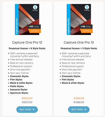Save up to 300 Dollar/Euro on Capture One 12 with styles pack - 43