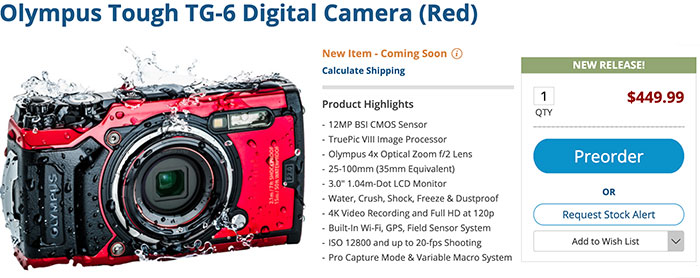 Olympus TG-6 officially announced - 43 Rumors